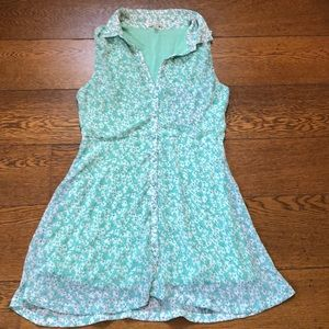 UO Lucca Couture Green Floral Button Up Dress M